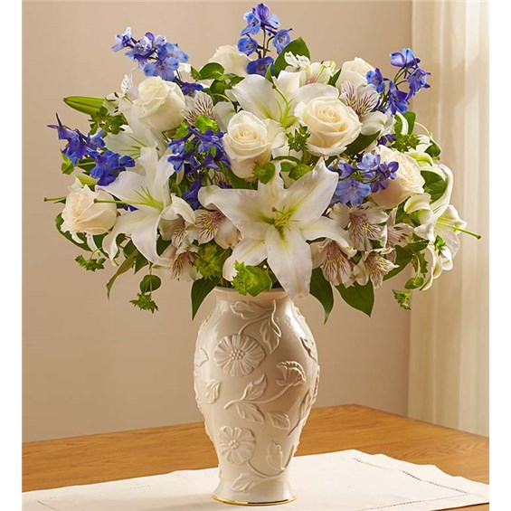 1 800 Flowers 174 Loving Blooms In Lenox 174 Blue Amp White